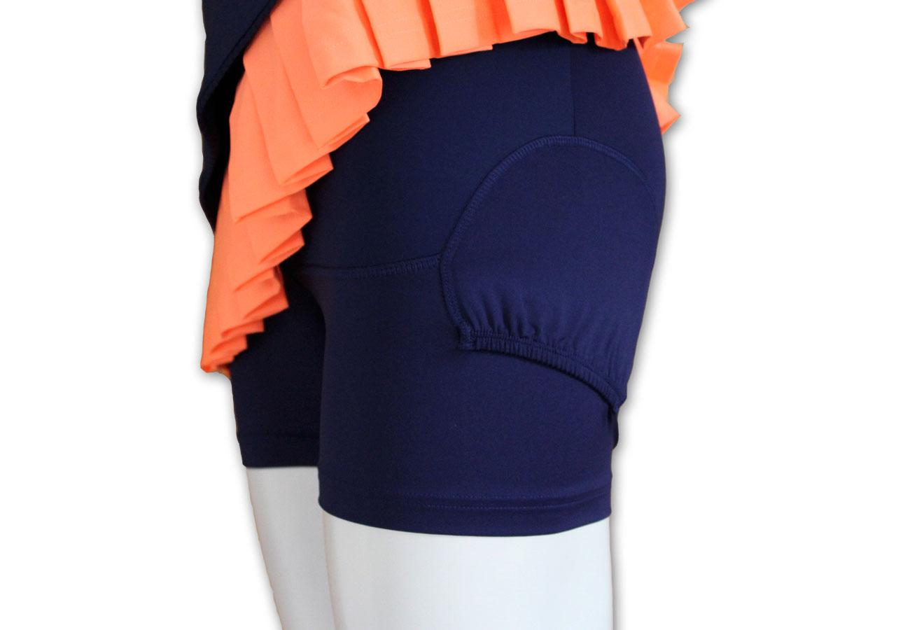 adidas Premium Tennisrock mit Innenhose mit Balltaschen S ...